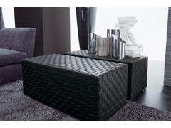 - Leather pouf / coffee table ERCOLE TRECY   Leather pouf - FRIGERIO POLTRONE E DIVANI