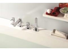 - 4 hole bathtub set with diverter with hand shower ERGO | 4 hole bathtub set - NEWFORM