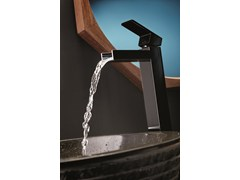 - Single handle 1 hole washbasin mixer without waste ERGO OPEN | Single handle washbasin mixer - NEWFORM