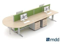 - Workstation desk ERGONOMIC MASTER | Office desk - MDD