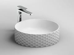 Lavabo da appoggio rotondo in ceramicaESAGONO - ARTCERAM