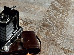 - Marble flooring with wood effect ESSENCE - FLEUR DE BOIS - Lithos Mosaico Italia - Lithos