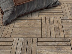 - Indoor/outdoor marble flooring with wood effect ESSENCE - LISTELLO - Lithos Mosaico Italia - Lithos