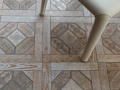 - Marble flooring with wood effect ESSENCE - QUADROTTA 1 - Lithos Mosaico Italia - Lithos