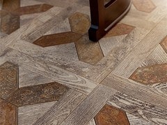 - Indoor/outdoor marble flooring with wood effect ESSENCE - QUADROTTA 2 - Lithos Mosaico Italia - Lithos