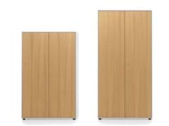 - Tall oak office storage unit ESSENZA | Wooden office storage unit - Fantin