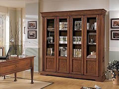 - Freestanding solid wood bookcase ESTENSI | Bookcase - Arvestyle
