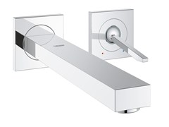 - Single handle washbasin mixer with flow limiter EUROCUBE JOY SIZE M | Wall-mounted washbasin mixer - Grohe