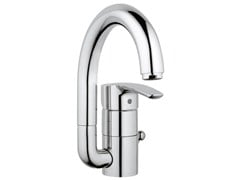 - Countertop single handle washbasin mixer with adjustable spout EUROSTYLE SIZE L | Washbasin mixer with pop up waste - Grohe