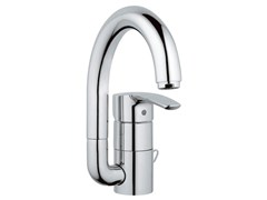 - Countertop single handle washbasin mixer with adjustable spout EUROSTYLE | Washbasin mixer without waste - Grohe