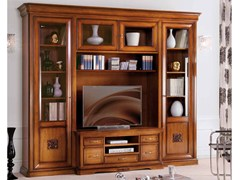 - Freestanding TV wall system EXCLUSIVE | Solid wood storage wall - Arvestyle