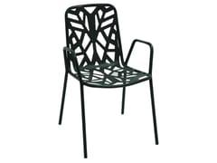 Sedia da giardino impilabile in acciaio zincato con braccioliFANCY2 - RD ITALIA