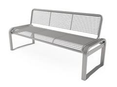 Panchina in acciaio con schienaleFANTASY   Panchina con schienale - CITY DESIGN