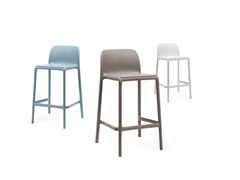 - Stackable glass-fibre barstool with footrest FARO MINI - Nardi