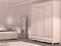 - Wooden wardrobe with sliding doors FENICE | Wardrobe with sliding doors - Arvestyle