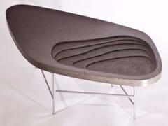 - Cement coffee table FIDJI 700 - MALHERBE EDITION