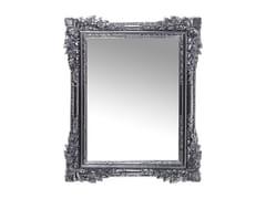 - Rectangular wall-mounted framed mirror FIORE CHROME - KARE-DESIGN
