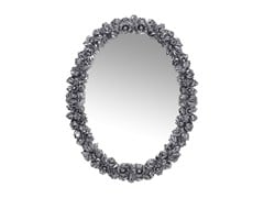 - Oval wall-mounted framed mirror FIORELLINO CHROME - KARE-DESIGN