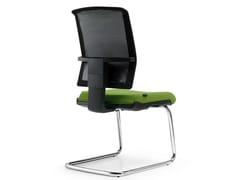 - Cantilever mesh reception chair FIVE | Cantilever chair - Quinti Sedute