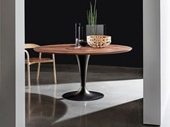 - Round wooden dining table FLÛTE WOOD | Table - SOVET ITALIA