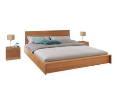 - English oak double bed with headboard FLAI - Müller Möbelwerkstätten