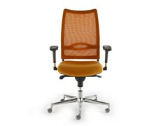 - Height-adjustable mesh task chair with 5-Spoke base with armrests FLASH | Task chair - D.M.