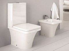 - Close coupled ceramic toilet FLAT | Close coupled toilet - Hidra Ceramica
