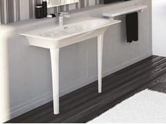 - Rectangular ceramic washbasin FLAT | Console washbasin - Hidra Ceramica