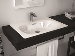 - Rectangular ceramic washbasin FLAT | Inset washbasin - Hidra Ceramica