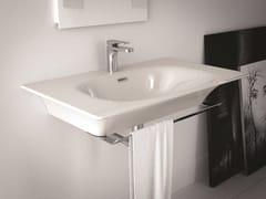 - Rectangular ceramic washbasin FLAT | Wall-mounted washbasin - Hidra Ceramica