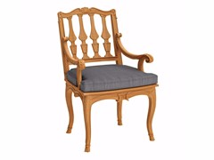 - Teak garden chair with armrests FLEUR DE LYS | Chair with armrests - ASTELLO