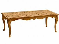 - Rectangular teak garden table FLEUR DE LYS | Rectangular table - ASTELLO