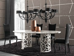 - Marble table FLORA - CorteZari