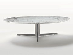 - Low oval marble coffee table FLY | Oval coffee table - FLEXFORM