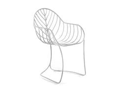 Sedia da giardino in acciaio inox con braccioliFOLIA - ROYAL BOTANIA