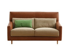 - Fabric sofa with headrest FOLK | Leather sofa - SANCAL