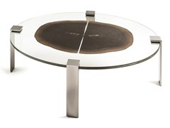 - Oval wood and glass coffee table FORESTA | Oval coffee table - VGnewtrend
