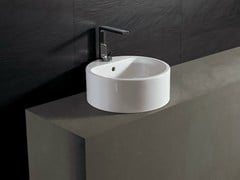 - Round ceramic washbasin FORM 46 ROUND | Washbasin - Alice Ceramica