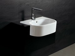 - Semi-inset ceramic washbasin FORM 54 | Semi-inset washbasin - Alice Ceramica