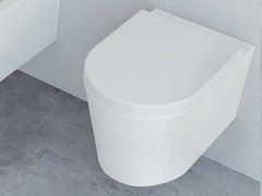 - Wall-hung ceramic toilet FORM SQUARE | Wall-hung toilet - Alice Ceramica