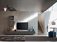 - Sectional wall-mounted TV wall system FORTEPIANO | Sectional storage wall - MOLTENI & C.