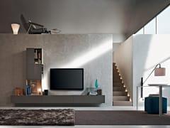 - Parete attrezzata componibile fissata a muro con porta tv FORTEPIANO | Parete attrezzata componibile - MOLTENI & C.