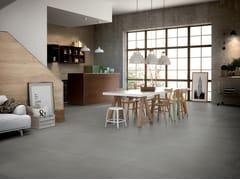 Pavimento/rivestimento in gres porcellanato effetto cementoFREELAB DARK GREY - CERAMICA FONDOVALLE