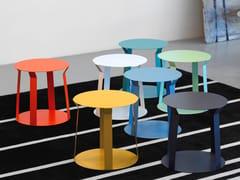 - Round metal bistro side table for living room FREELINE 1 - MEME DESIGN