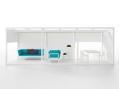 - Freestanding aluminium pergola with sliding cover Folding Ceiling and Floor Module - GANDIA BLASCO
