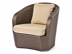 - Hand woven man-made fibre armchair GARDENIA | Armchair - Varaschin