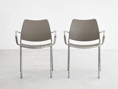 - Stackable polypropylene chair with armrests GAS | Polypropylene chair - STUA
