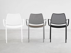 - Stackable polyester fibre chair with armrests GAS | Polyester fibre chair - STUA