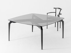 - Square glass dining table GAULINO | Square table - BD Barcelona Design