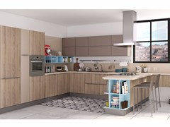 - Fitted kitchen with peninsula GAYLA | Kitchen - CREO Kitchens by Lube